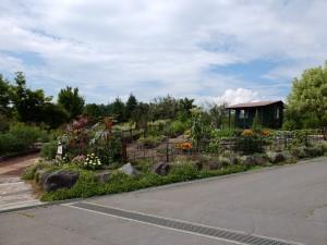 東御市 ヴィラデストワイナリーのお庭