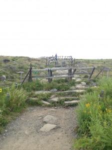 美ヶ原 天体観測 牛失山方面へ向かう際の歩道